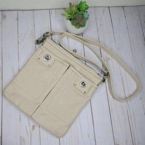 Marc by Marc Jacobs Cream Leather Crossbody